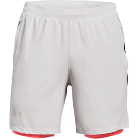 Under Armour Launch SW 2-In-1 7'' Shorts Men, halo gray-black